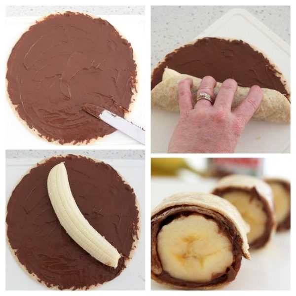 Banana Nutella Sushi | 25+ Cute and Healthy Snack Ideas
