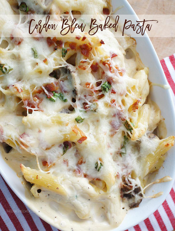 Cordon Bleu Baked Pasta | 25+ Pasta Recipes