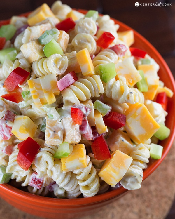 Creamy Cheddar Pasta Salad | 25+ Pasta Recipes