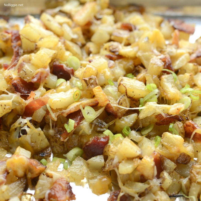 Crispy Potatoes with cheese and bacon | they taste just like Outback Steak House Cheese Fries | recipe on NoBiggie.net