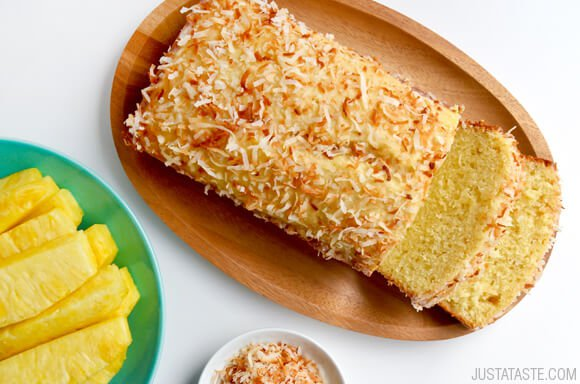 Glazed Pineapple Coconut Bread   25+ Pineapple Recipes