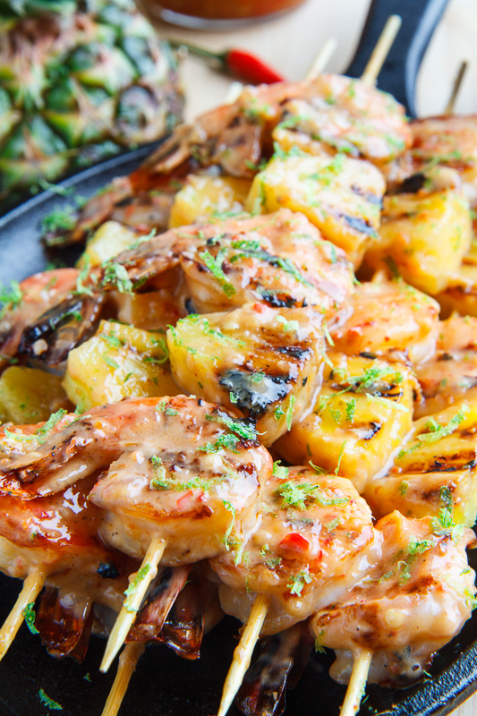 Grilled Coconut and Pineapple and Sweet Chili Shrimp   25+ Pineapple Recipes