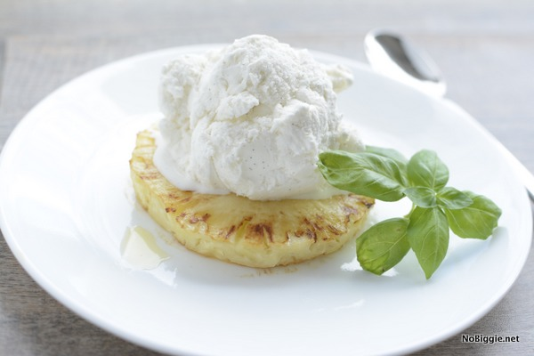 Grilled Pineapple with Vanilla Ice Cream   25+ Pineapple Recipes
