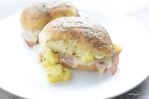 Ham and Cheese Hawaiian Sliders   25+ Pineapple Recipes