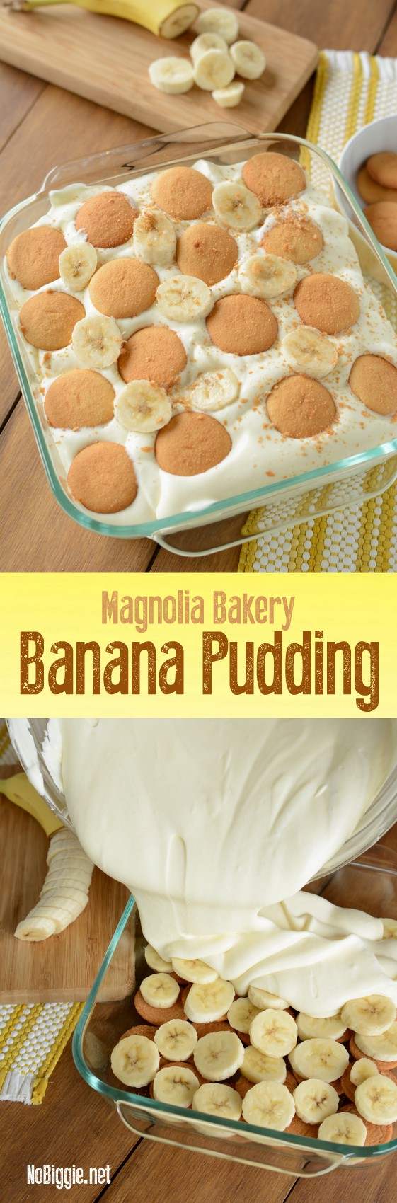 Magnolia Bakery Banana Pudding - copycat recipe! This banana pudding is so good, plus it feeds a crowd! #bananapudding #magnoliabakerybananapudding #comfortfood #sweettreats