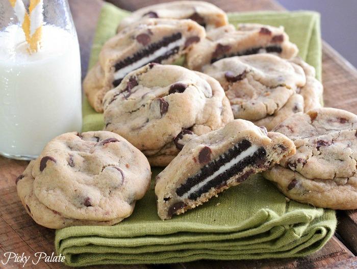 Oreo Stuffed Chocolate Chip Cookies | 25+ Oreo Recipes
