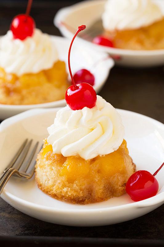 Pineapple Upside Down Cupcakes   25+ Pineapple Recipes