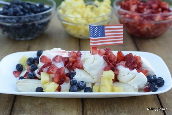 Red, White & Blue Banana Split   25+ Pineapple Recipes