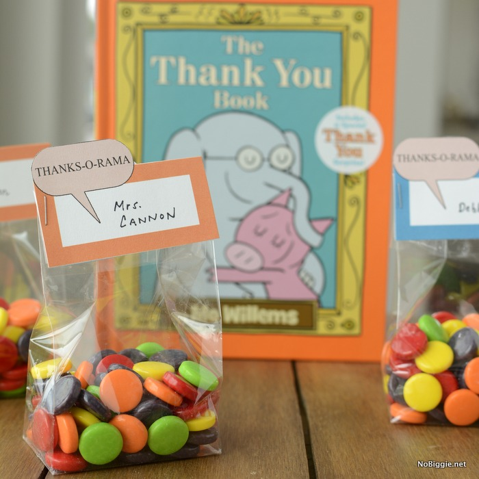 Thank you treat bag toppers | free printables | NoBiggie.net