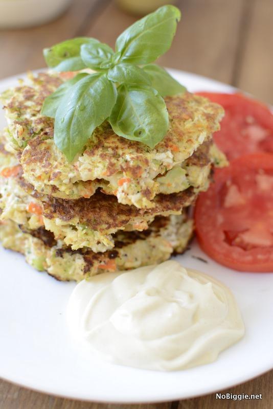 veggie fritters with mayo | NoBiggie.net