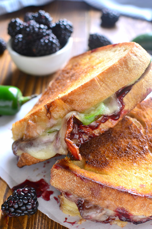 Blackberry Bacon Grilled Cheese | 25+ Grilled Cheese Recipes