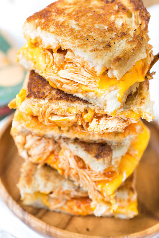 Buffalo Chicken Grilled Cheese | 25+ Grilled Cheese Recipes