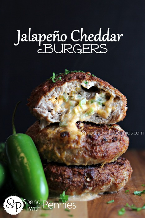 Jalapeno Cheddar Burgers | 25+ Burger recipes