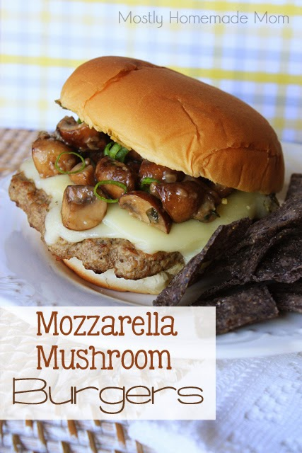 Mozzarella Mushroom Burgers | 25+ Burger recipes