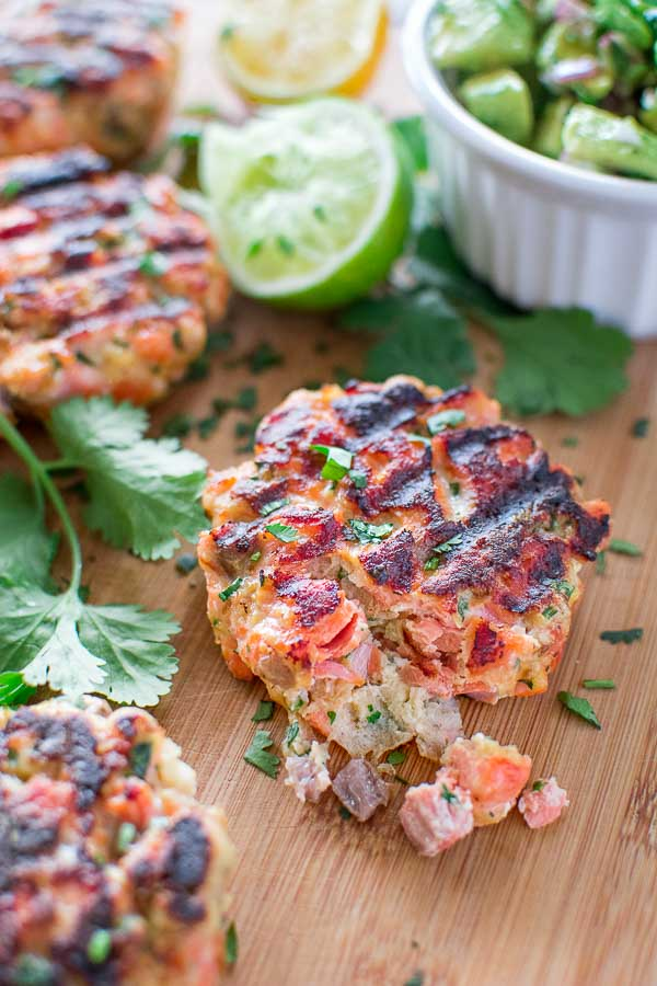 Salmon Burgers with avocado salsa | 25+ Burger recipes