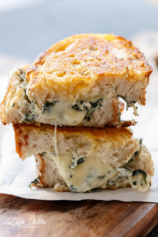 Spinach & Ricotta Grilled Cheese