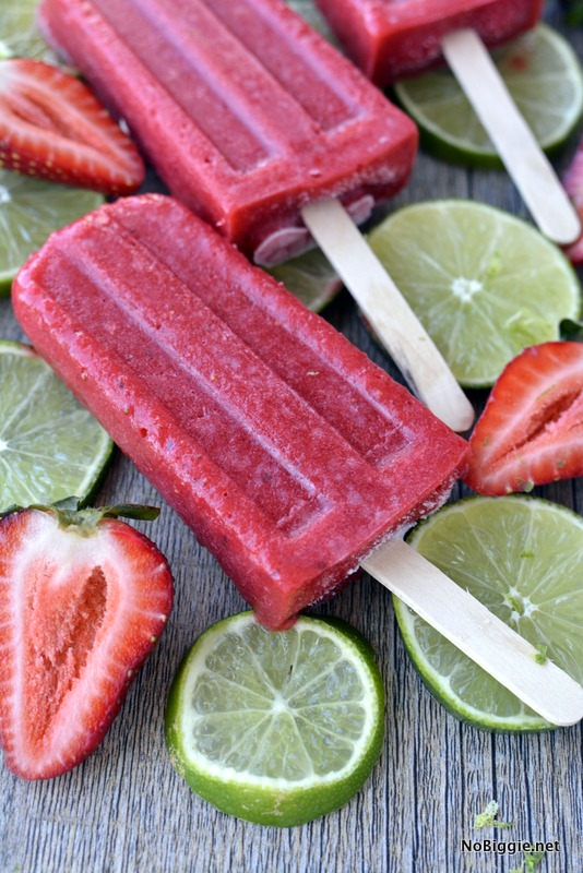 Three Ingredient Strawberry Popsicles