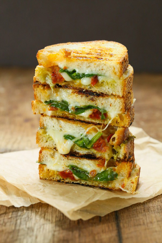 Sun Dried Tomato & Spinach Grilled Cheese