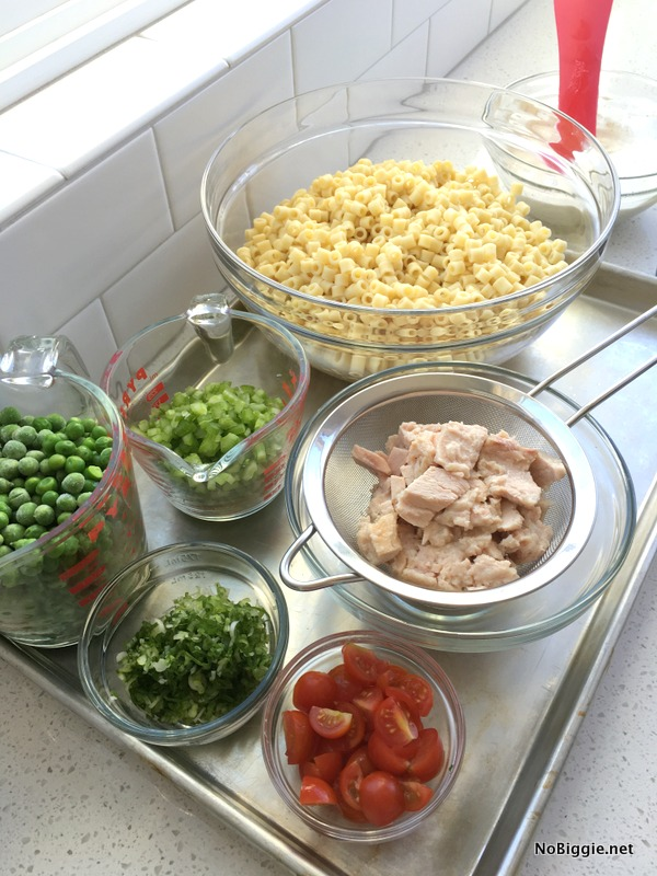 Tuna Pasta Salad ingredients | | NoBiggie.net