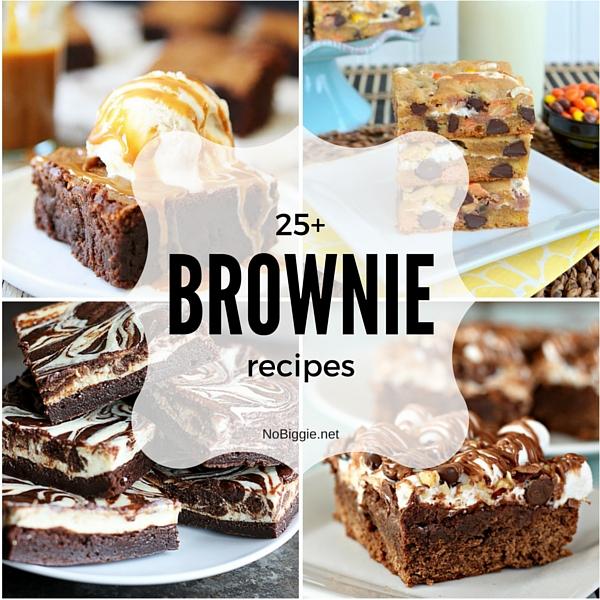 25+ Brownie recipes | NoBiggie.net