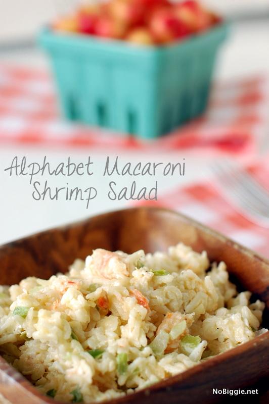 Alphabet Macaroni Shrimp Salad