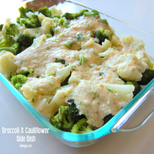 Broccoli & Cauliflower Side dish | 25+ Broccoli Recipes | NoBiggie.net