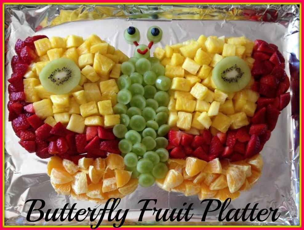 Butterfly Fruit Platter | 20+ Cute Fruit & Veggie Trays