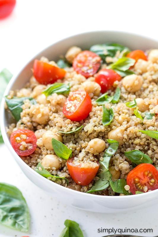 Capreses Quinoa Salad | 25+ Chickpea Recipes