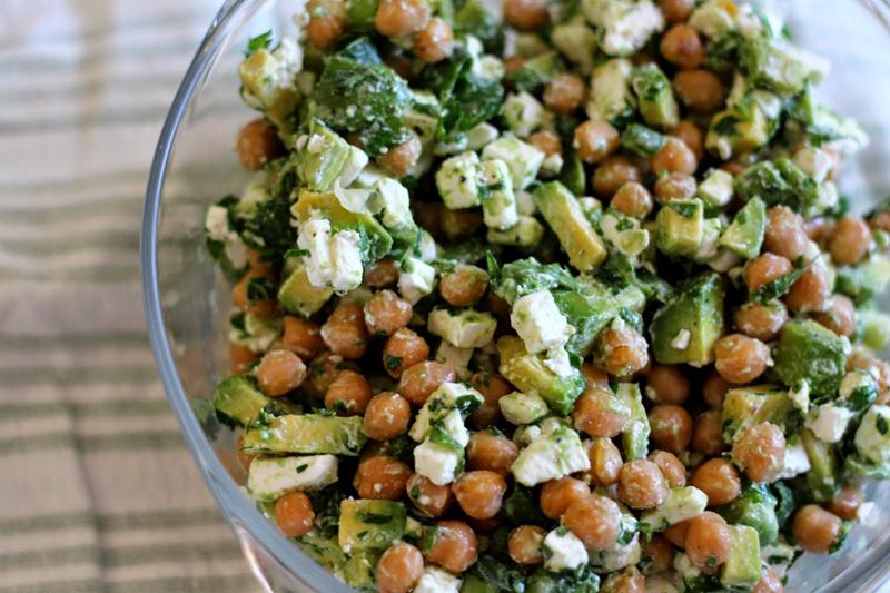 Chickpea Avocado & Feta Salad | 25+ Chickpea Recipes