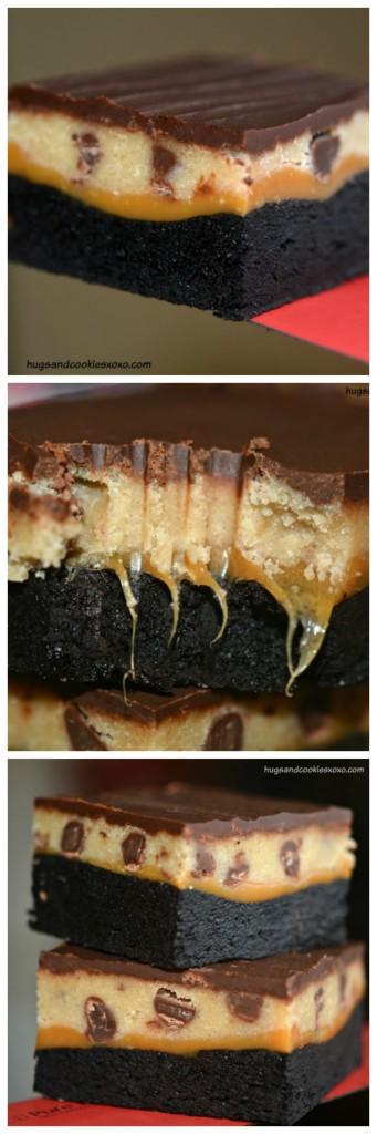Cookie Dough Caramel Brownie Bars | 25+ Brownie recipes