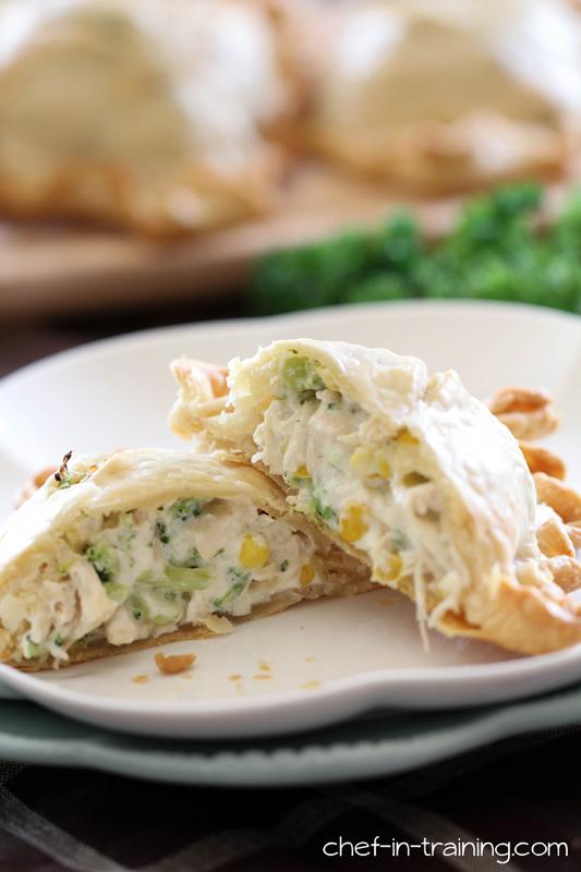 Creamy Chicken & Broccoli Pie Pocket | 25+ Broccoli Recipes