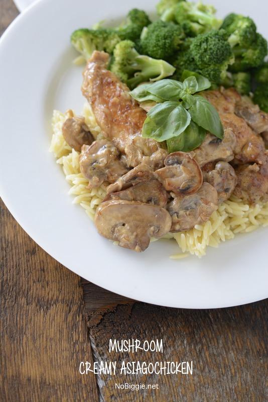 Creamy Mushroom Asiago Chicken | 25+ mushroom recipes
