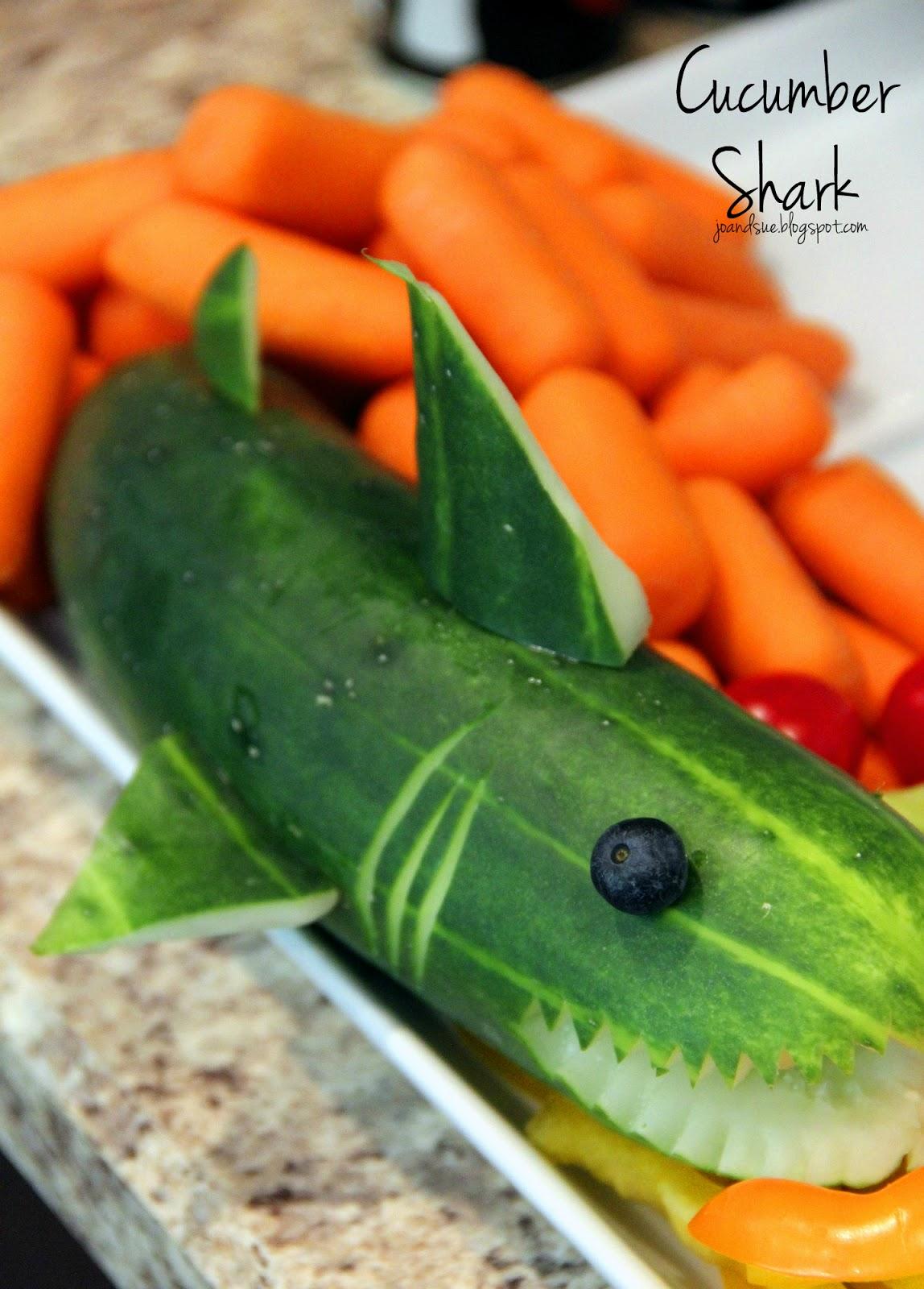 Cucumber Shark | 20+ Cute Fruit & Veggie Trays