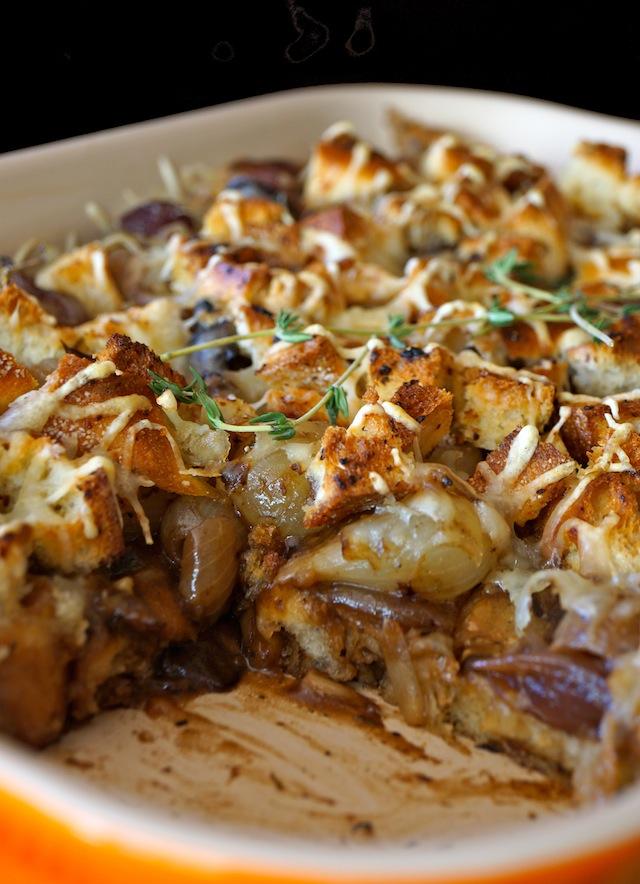French Onion Mushroom Casserole | 25+ mushroom recipes