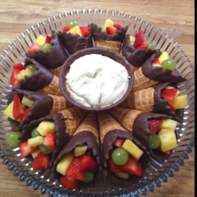 Fruit Cones | 20+ Cute Fruit & Veggie Trays