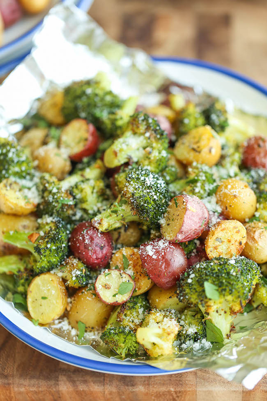 Garlic Parmesan Broccoli & Potatoes | 25+ Broccoli Recipes