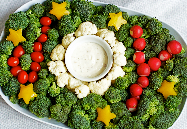 Joy Veggie Tray | 20+ Cute Fruit & Veggie Trays
