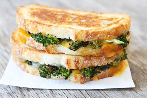 Roasted Broccoli Grilled Cheese |25+ Broccoli Recipes