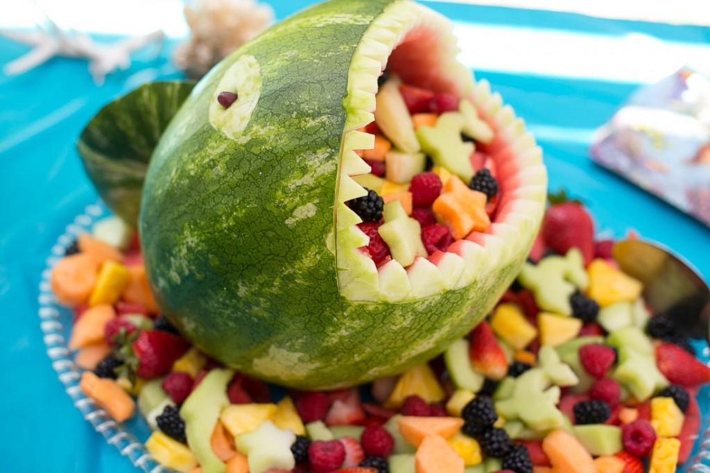 Shark Bowl | 20+ Cute Fruit & Veggie Trays