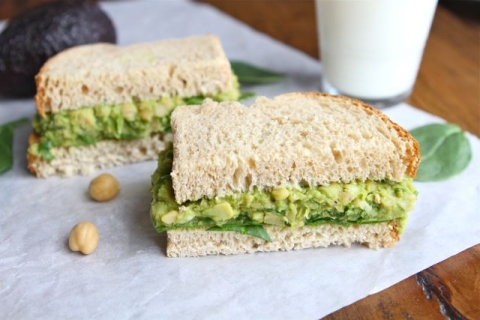 Smashed Chickpea Avocado Salad Sandwich | 25+ Chickpea Recipes