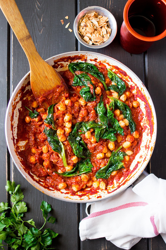 Spanish Chickpea Spinach Stew | 25+ Chickpea Recipes