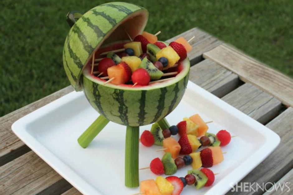 Watermelon Grill | 20+ Cute Fruit & Veggie Trays