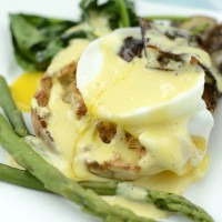 Veggie Eggs Benedict with a Ginger Lemon Hollandaise Sauce
