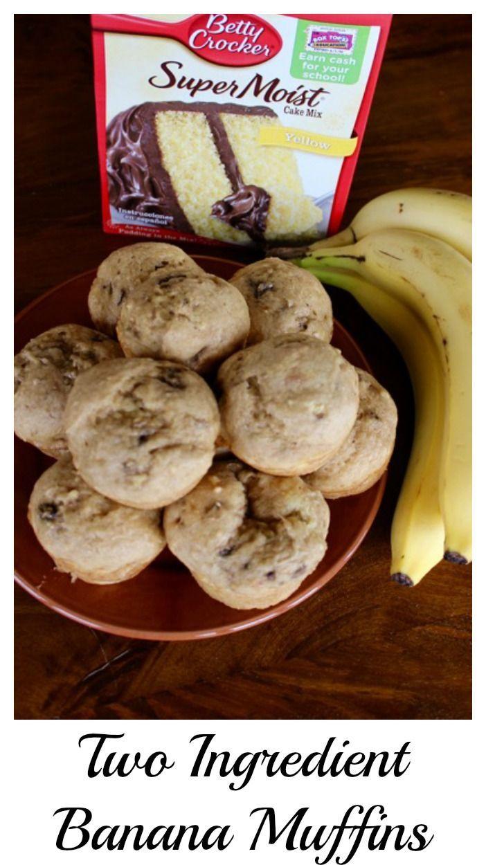2-ingredient banana muffins | 25+ cake mix recipes