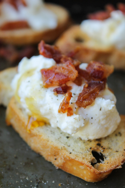 Bacon Ricotta Crostini | 25+ Ways to Top Toast
