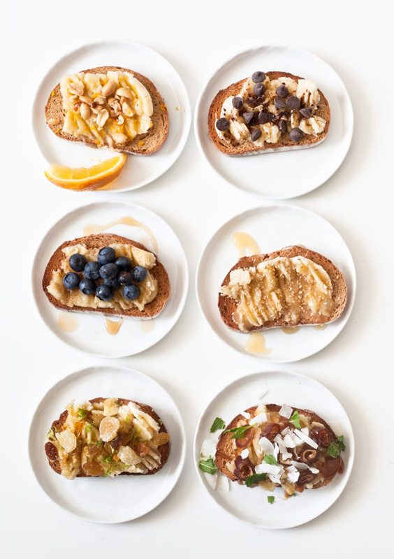 Banana Toast 6 Ways | 25+ Ways to Top Toast