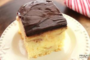 Boston Cream Poke Cake | 25+ Poke Cake Recipes