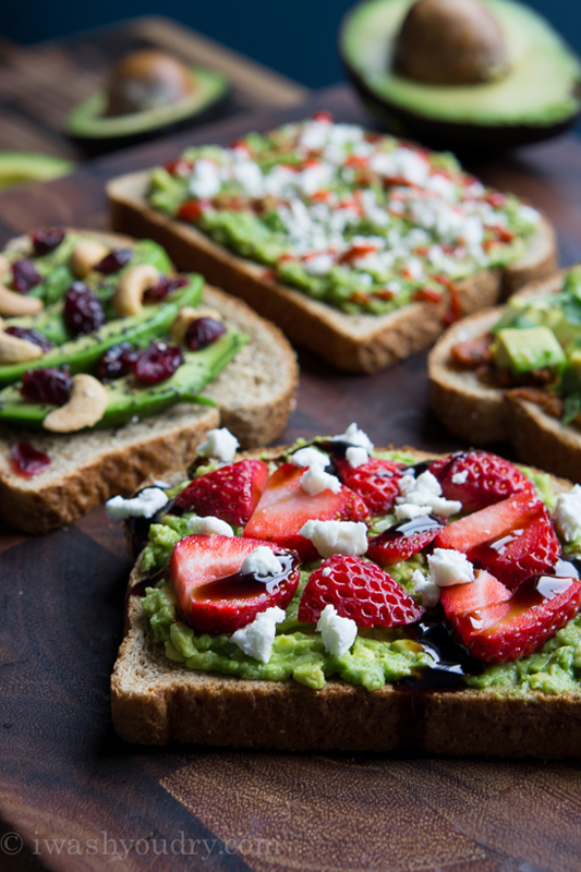 California Avocado Toasts 4 Ways | 25+ Ways to Top Toast