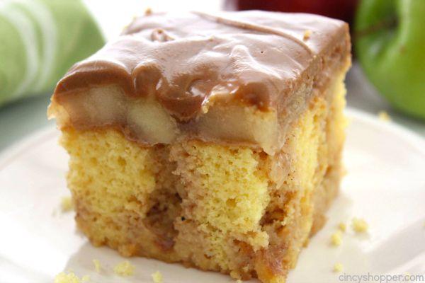 Caramel Apple Poke Cake | 25+ Poke Cake Recipes