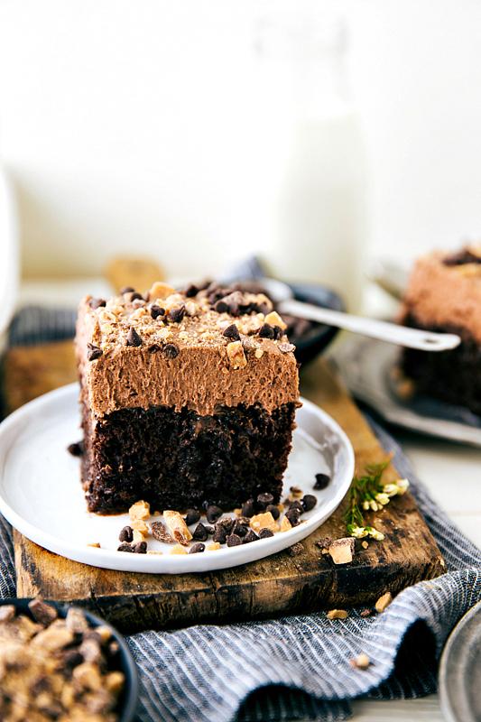 Chocolate Nutella Poke Cake | 25+ Poke Cake Recipes